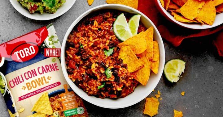 Chili con carne bowl med guacamole