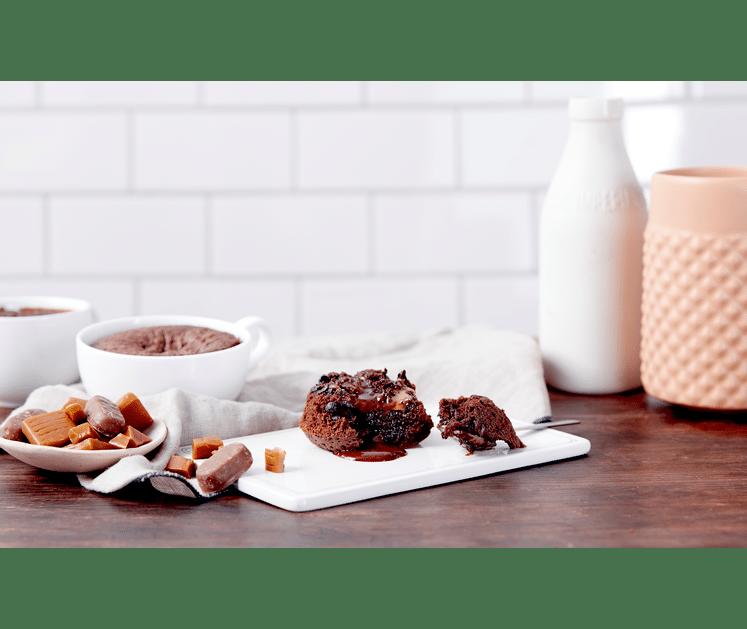 Sjokoladefondant med karamell