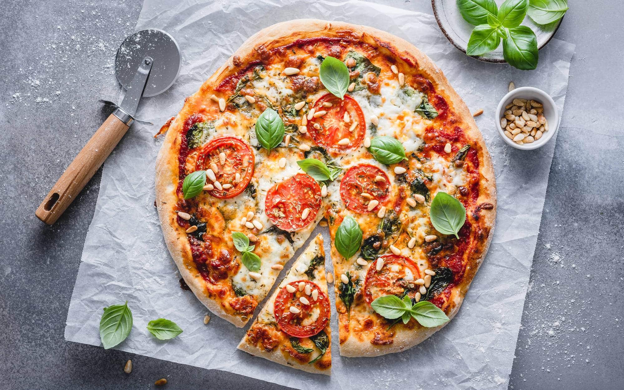 Bilde av vegetarpizza